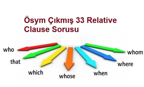 Ösym Çıkmış 33 Relative Clause Sorusu