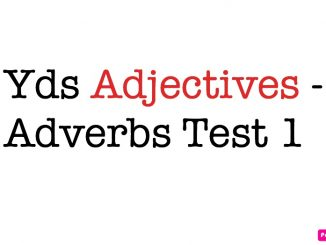 Yds Adjectives - Adverbs Test 1